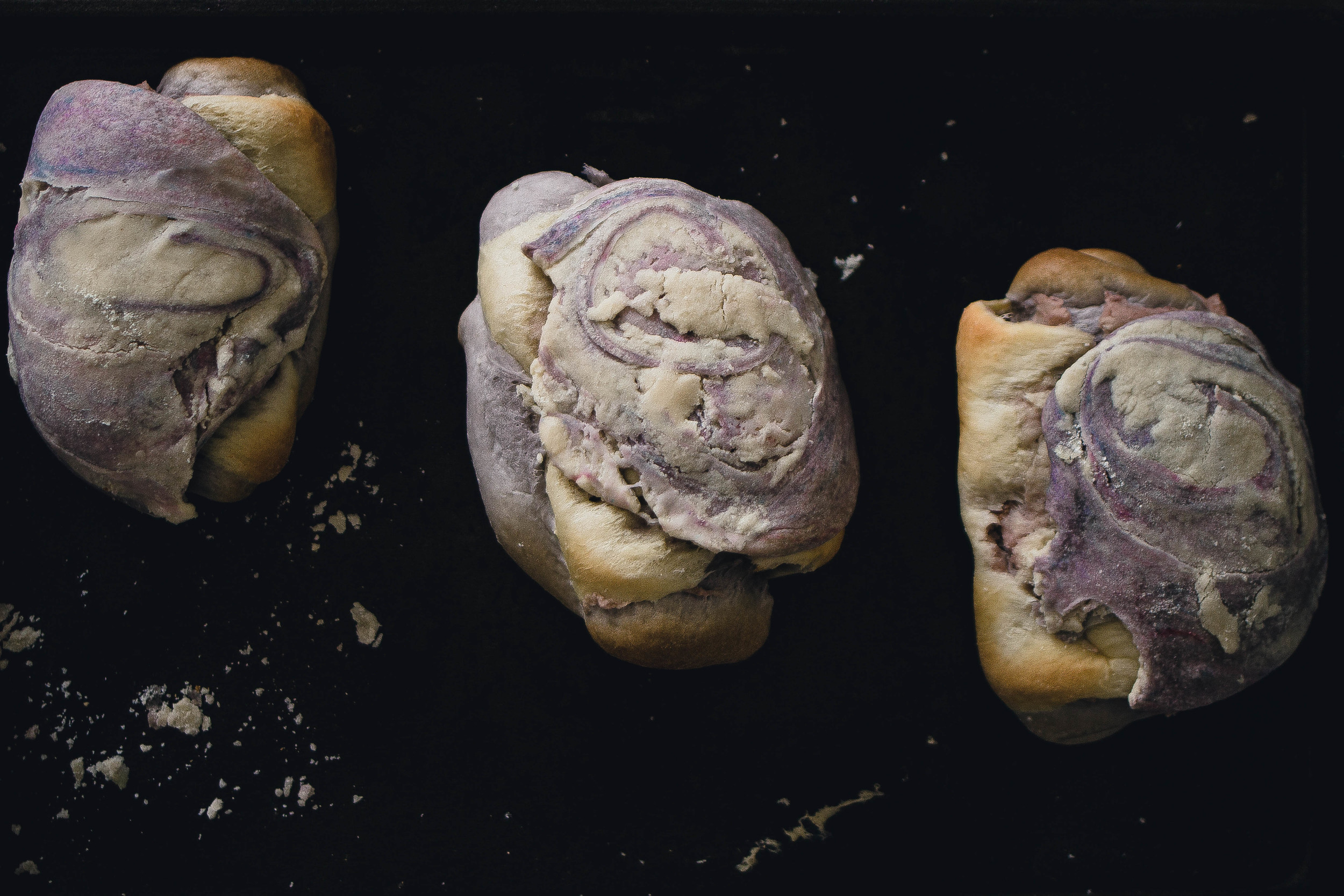How to make marble taro bread like 85 Degrees Bakery | by fit for the soul