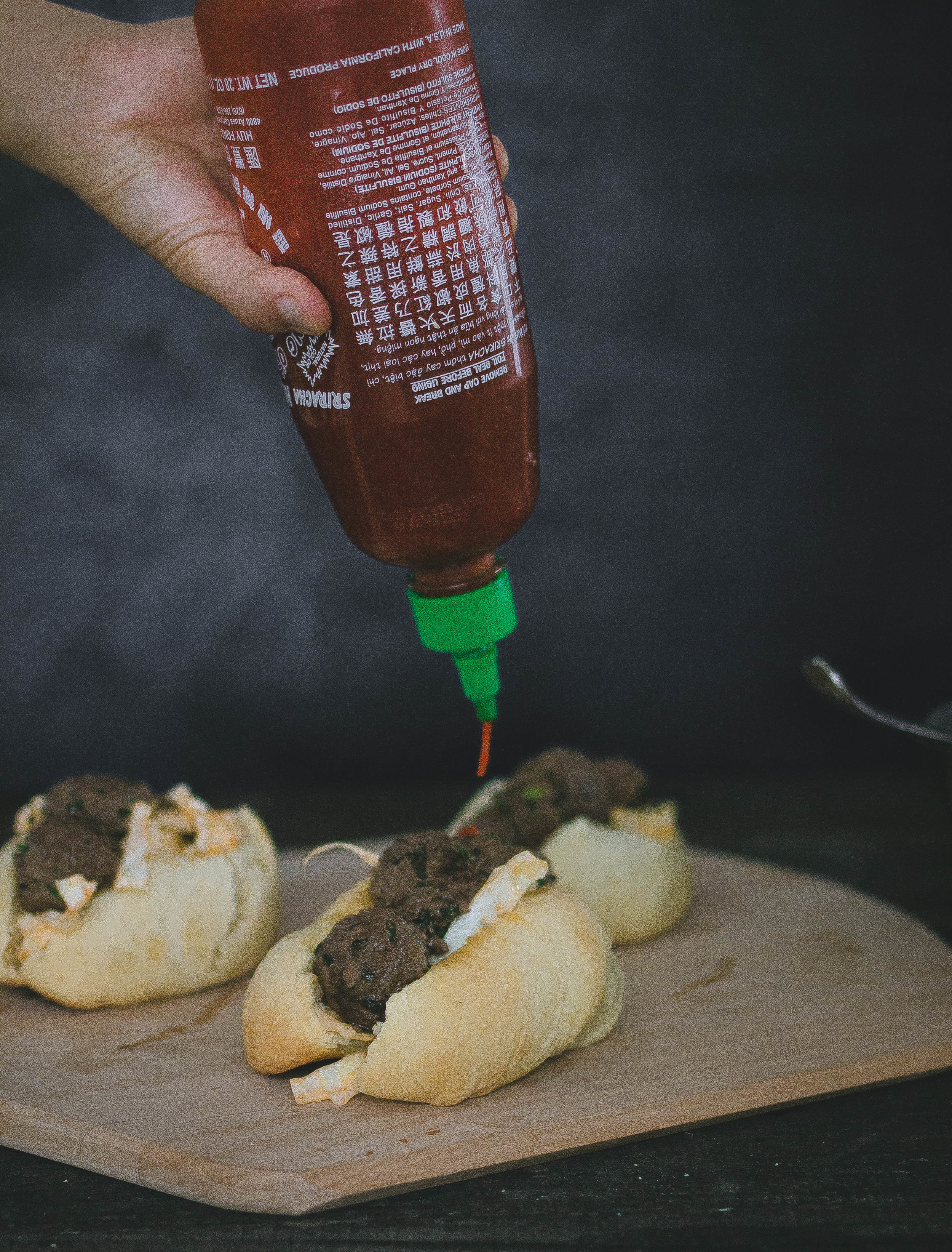 Hokkaido Milk Buns and Spicy Bulgogi Meatball Sandwich with Sriracha | by fit for the soul