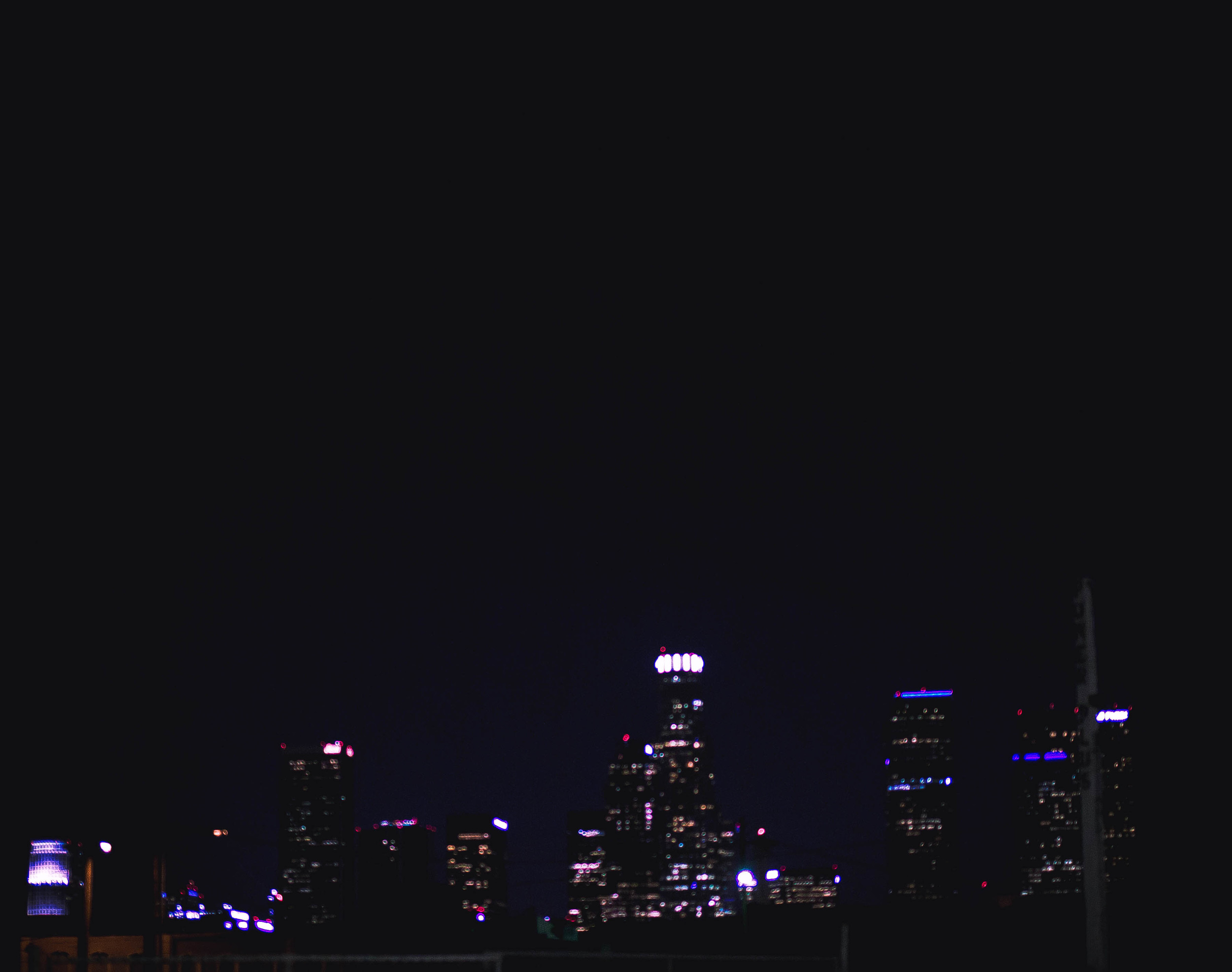 Downtown LA at night   by fit for the soul