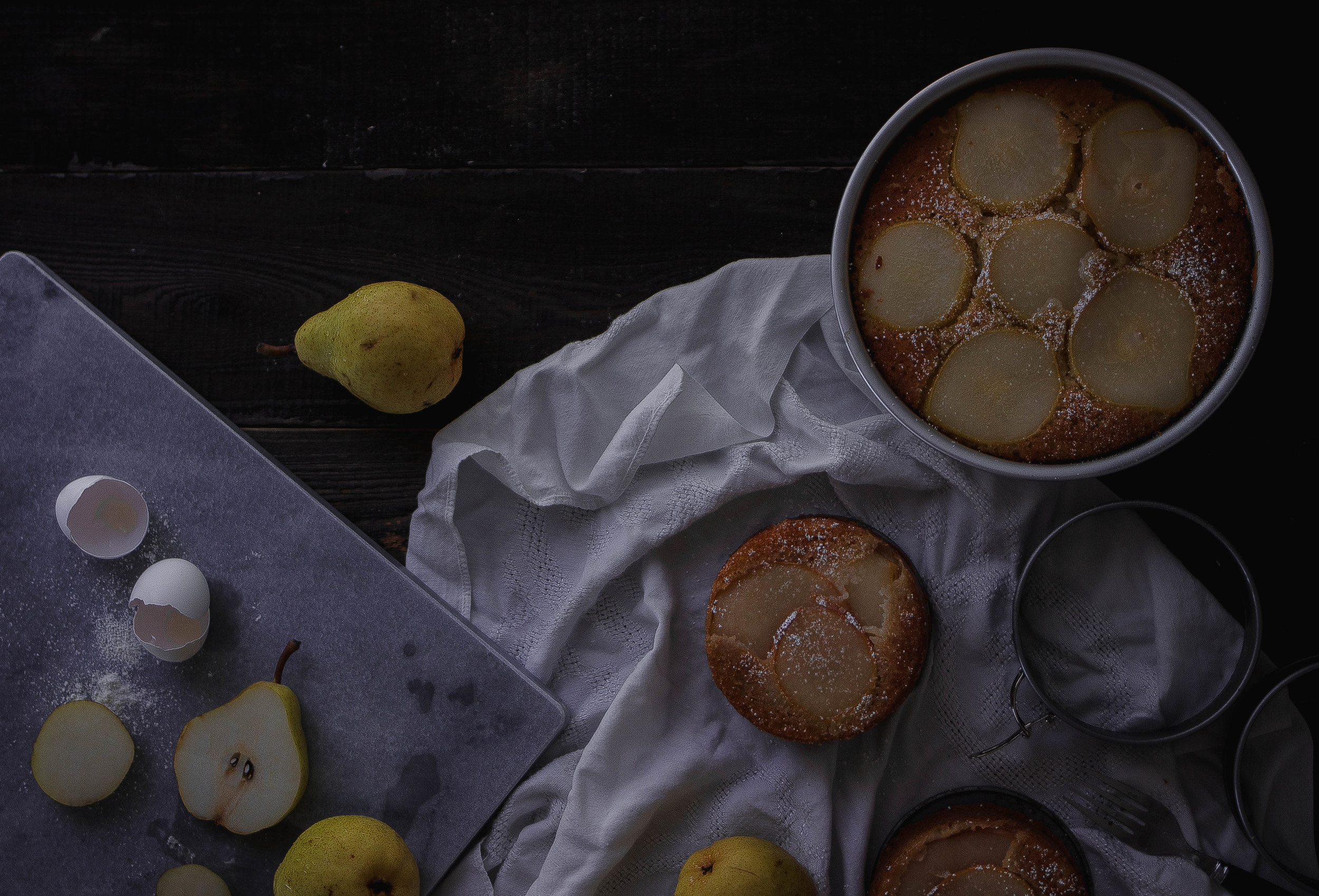 Liquor drenched pear and yogurt cake, plus the most inexpensive marble slab from Crate and Barrel | by fit for the soul
