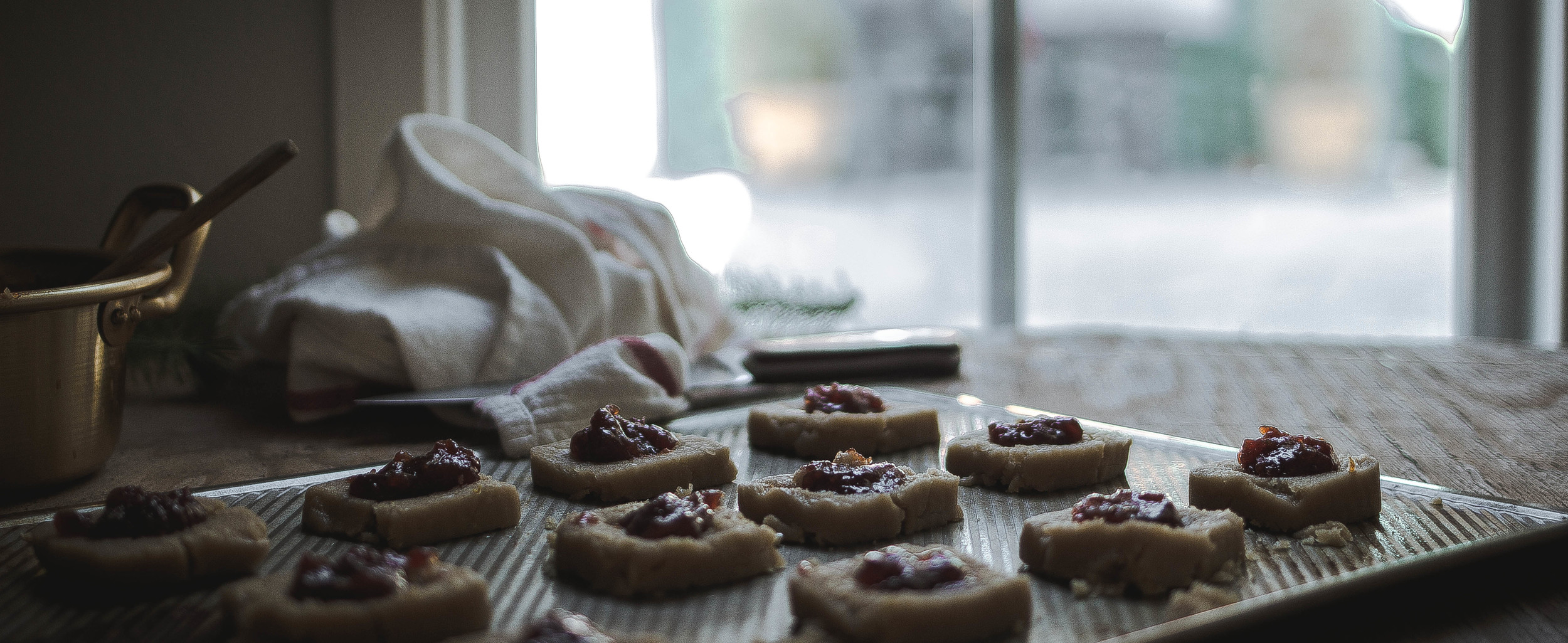 Macadamia thumbprint cookies and quince jam {dulce de membrillo} | by fit for the soul
