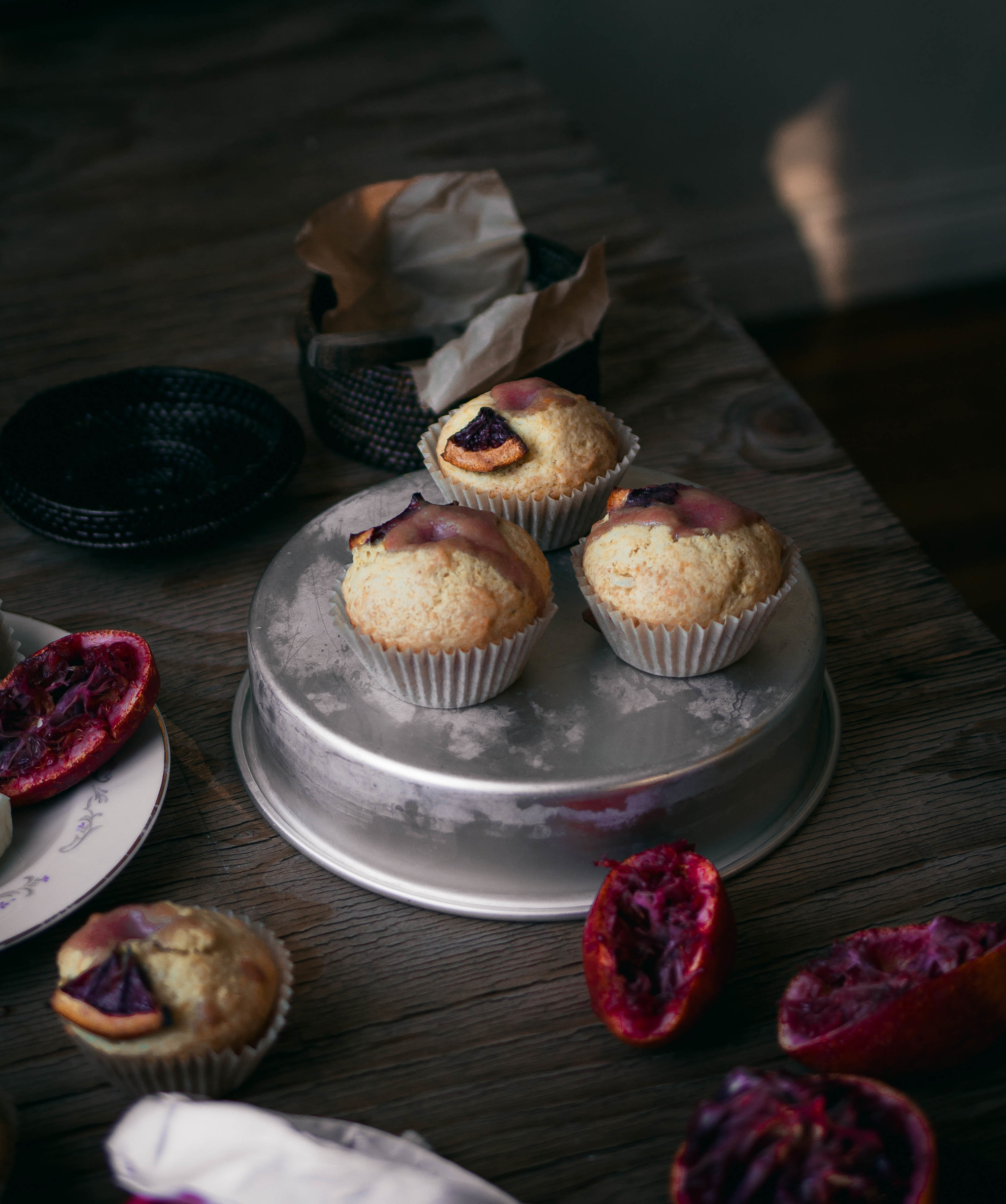 Citrus muffins with blood orange curd recipe | by fit for the soul