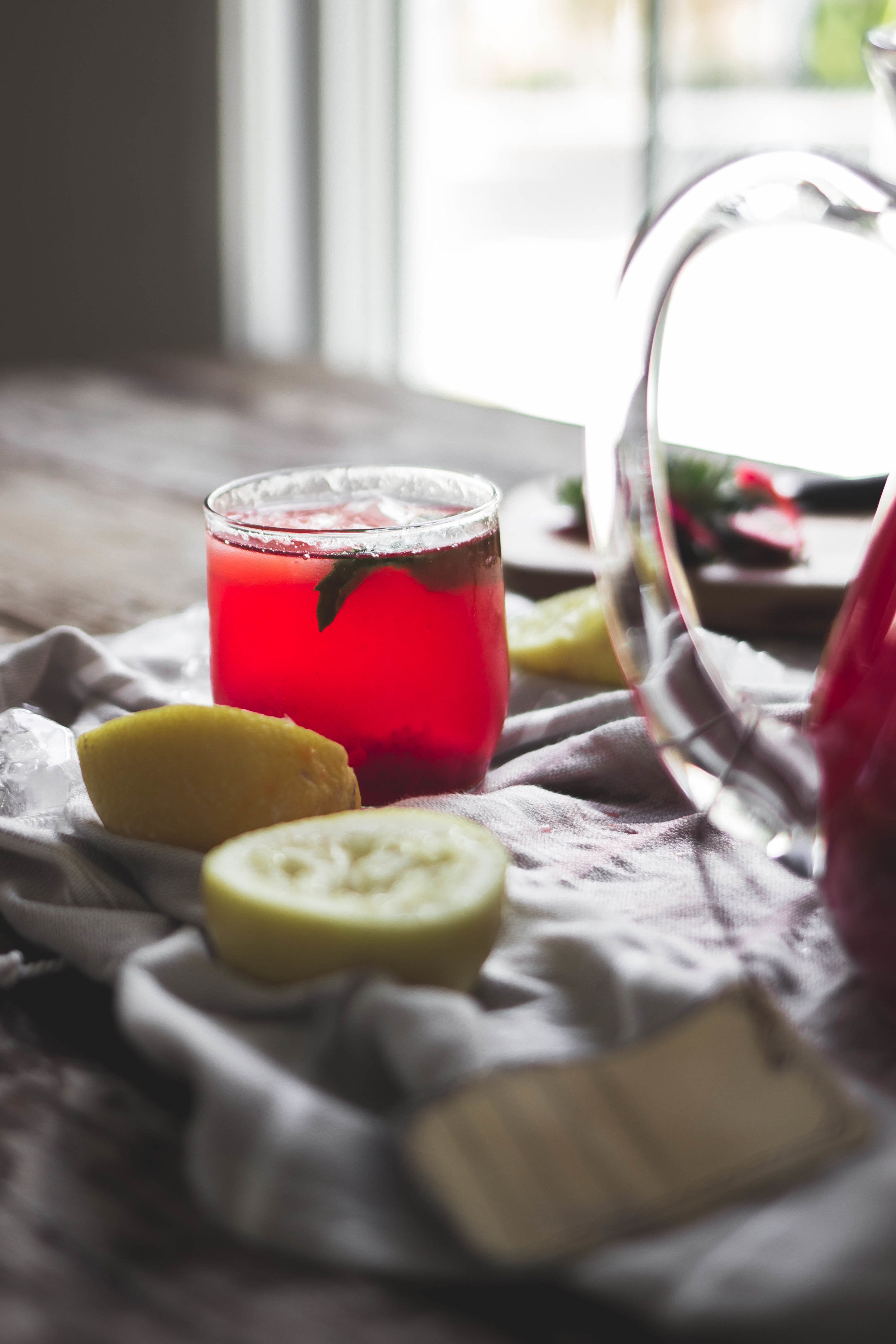 homemade strawberry mint lemonade recipe, like Red Robbin | from scratch, mostly