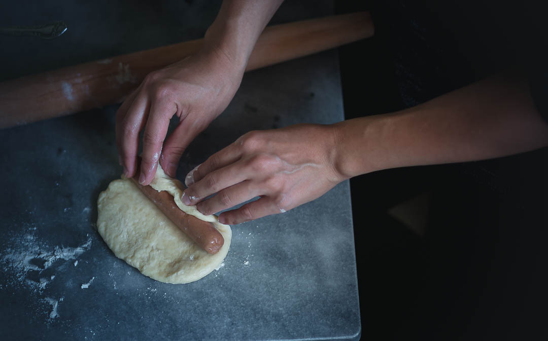 How to make Korean sausage bread with intricate shapes--tangzhong method dough | from scratch, mostly