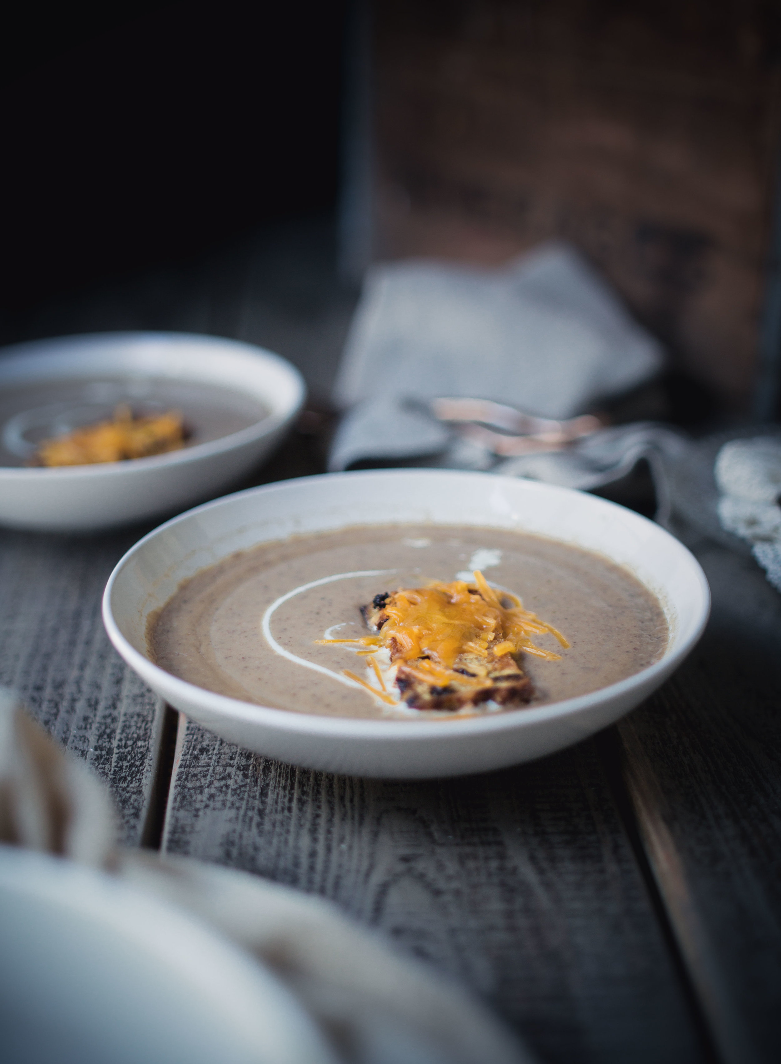 Creamy chestnut soup recipe--fall recipe ideas | from scratch, mostly