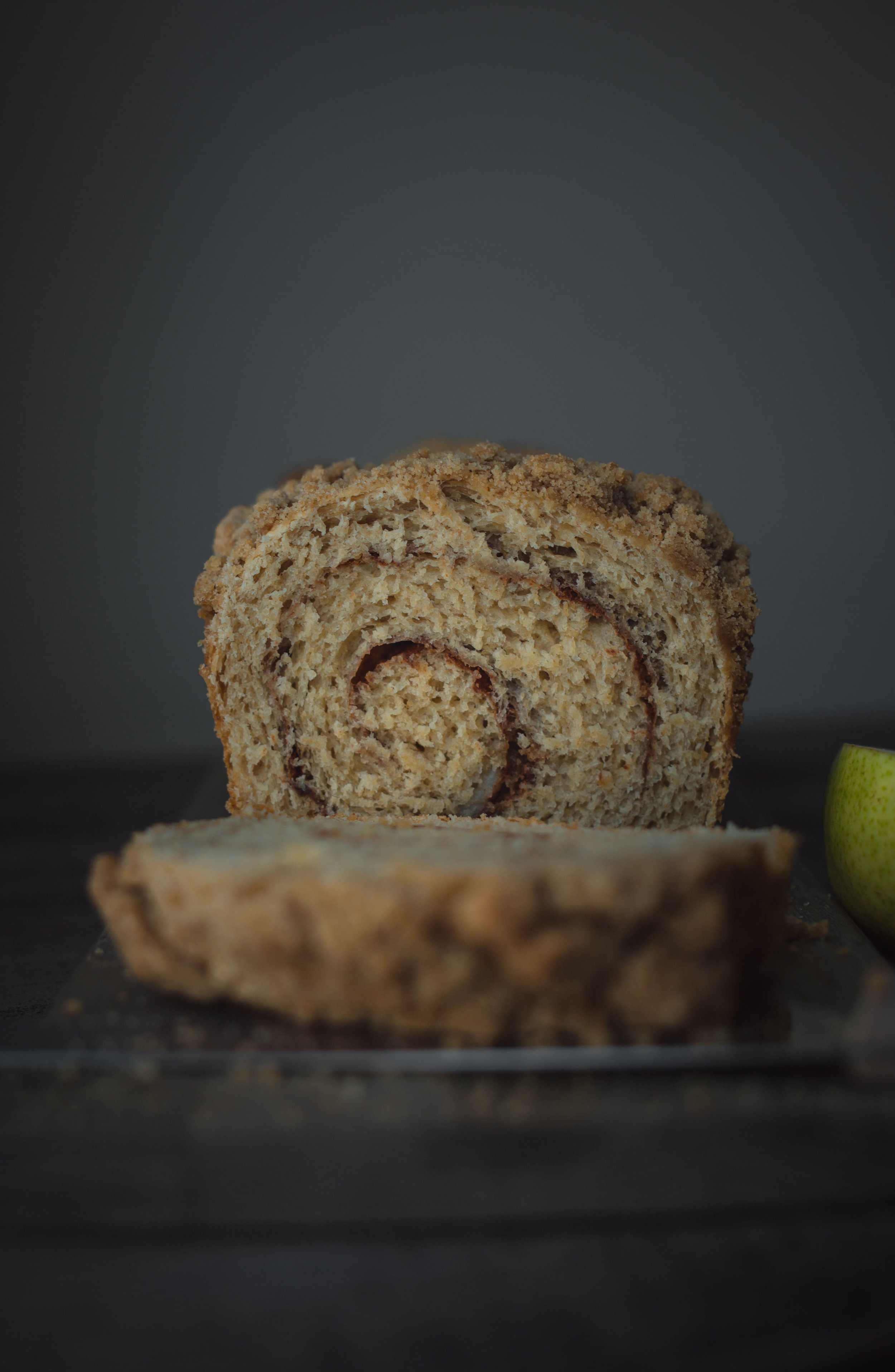 Pear cinnamon swirl bread--yeast bread series #MuchBreaderTogether | from scratch, mostly