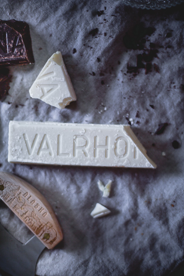 Valrhona chocolate bars, for tempering and making a chocolate shell | from scratch, mostly