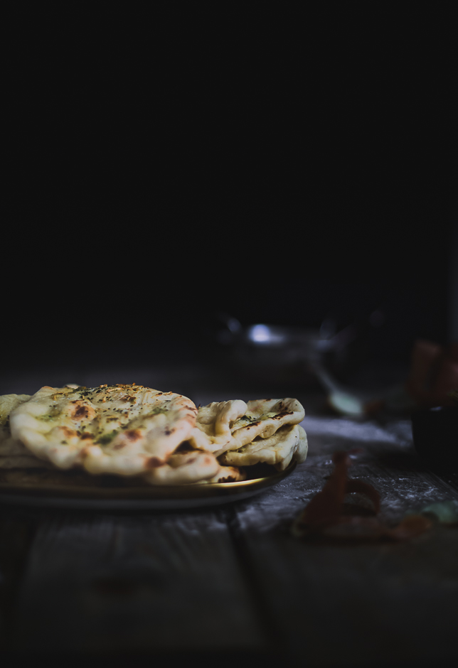Garlic naan at home without the clay oven