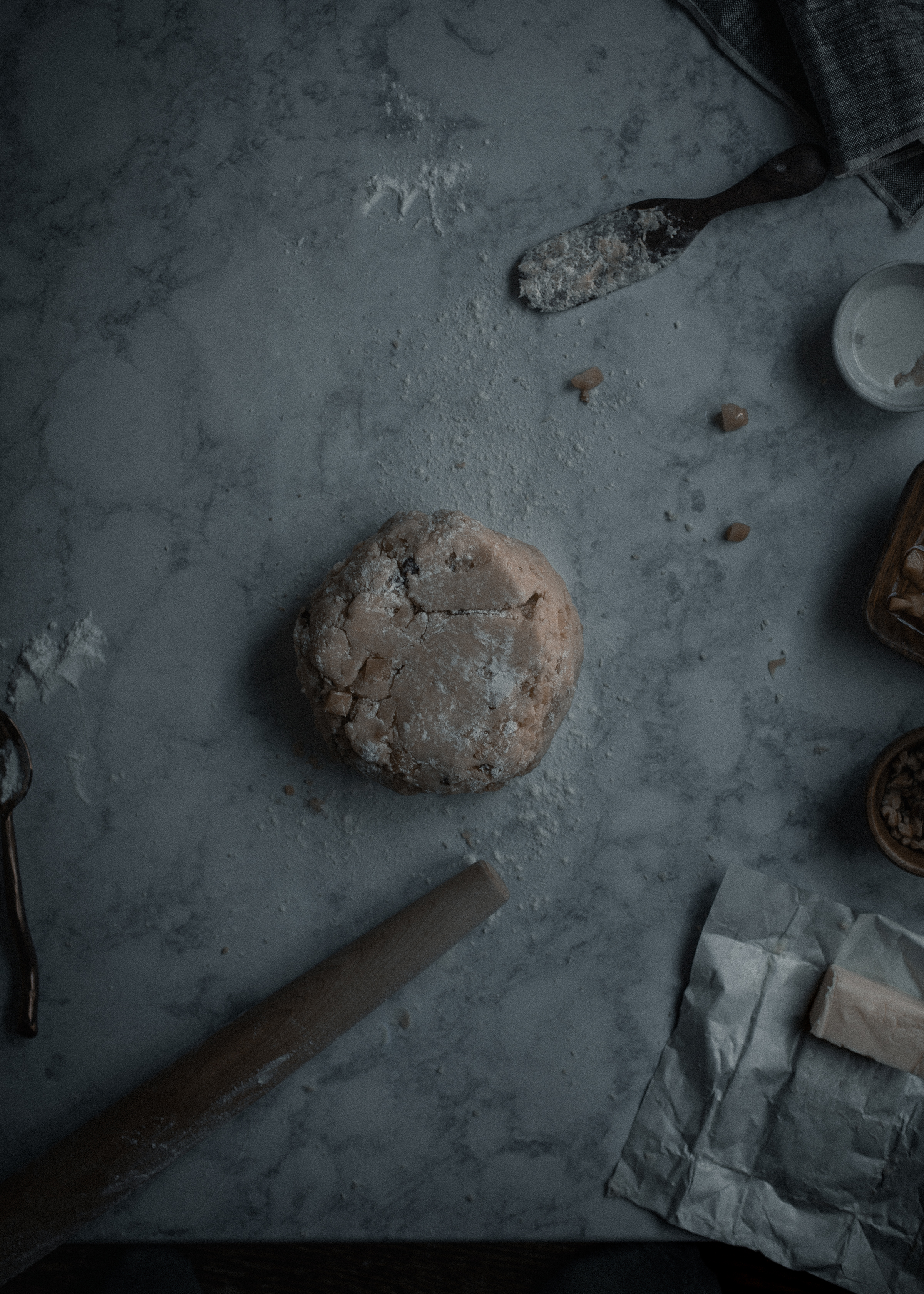 The most tender, creamy chestnut scone recipe with Plugra salted butter, step by step process | from scratch, mostly blog