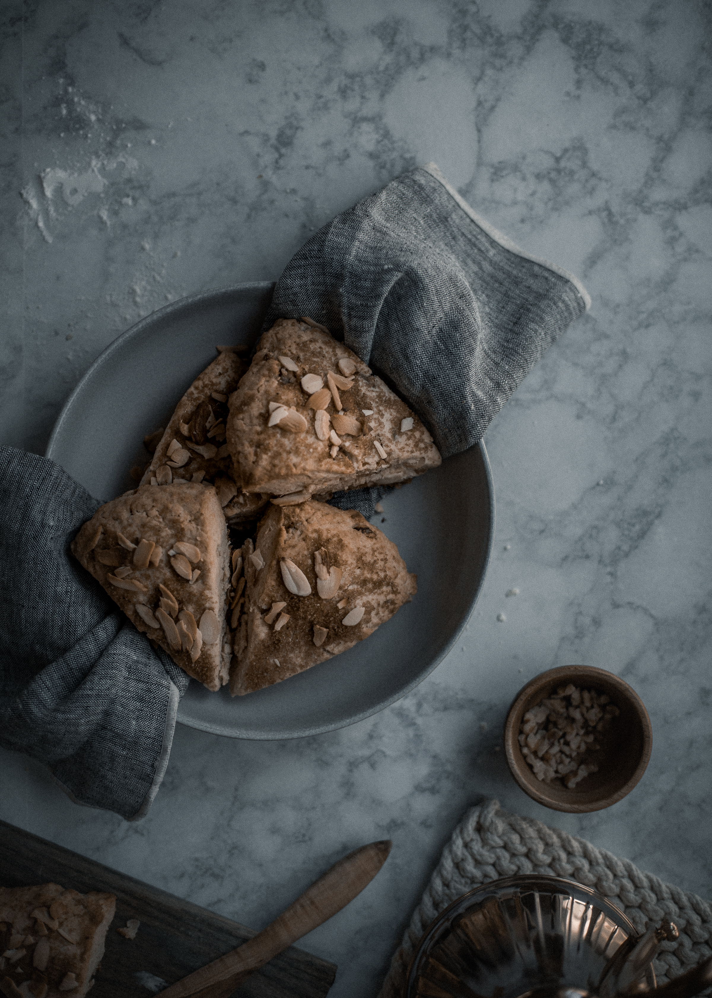 The most tender, creamy chestnut scone recipe with Plugra salted butter, step by step photos | from scratch, mostly blog