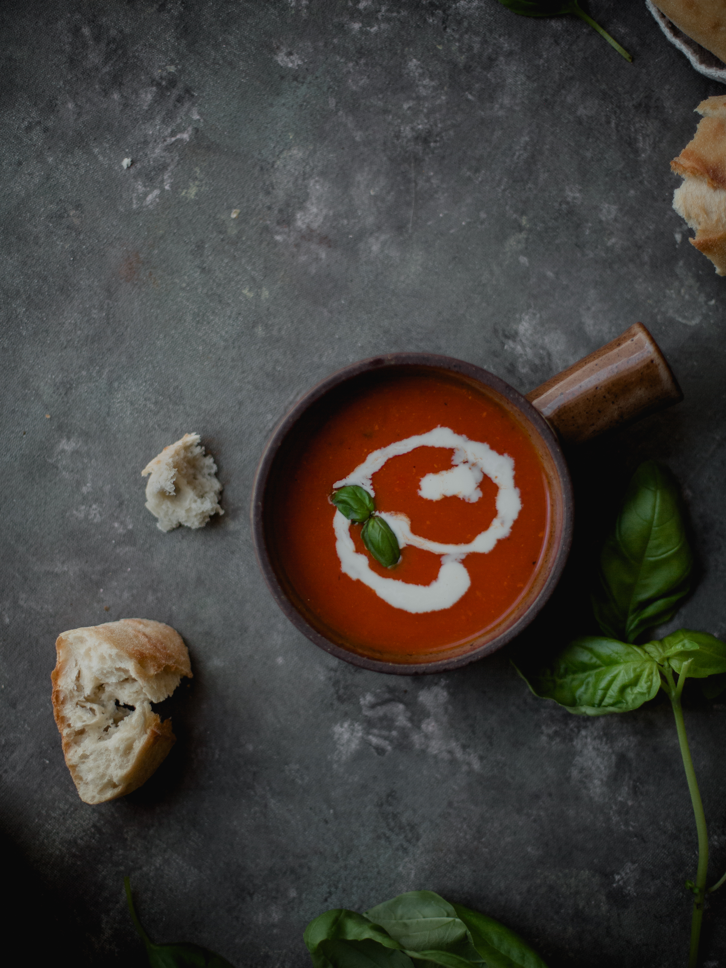 Creamy tomato pancetta soup for entertaining guests | from scratch, mostly blog