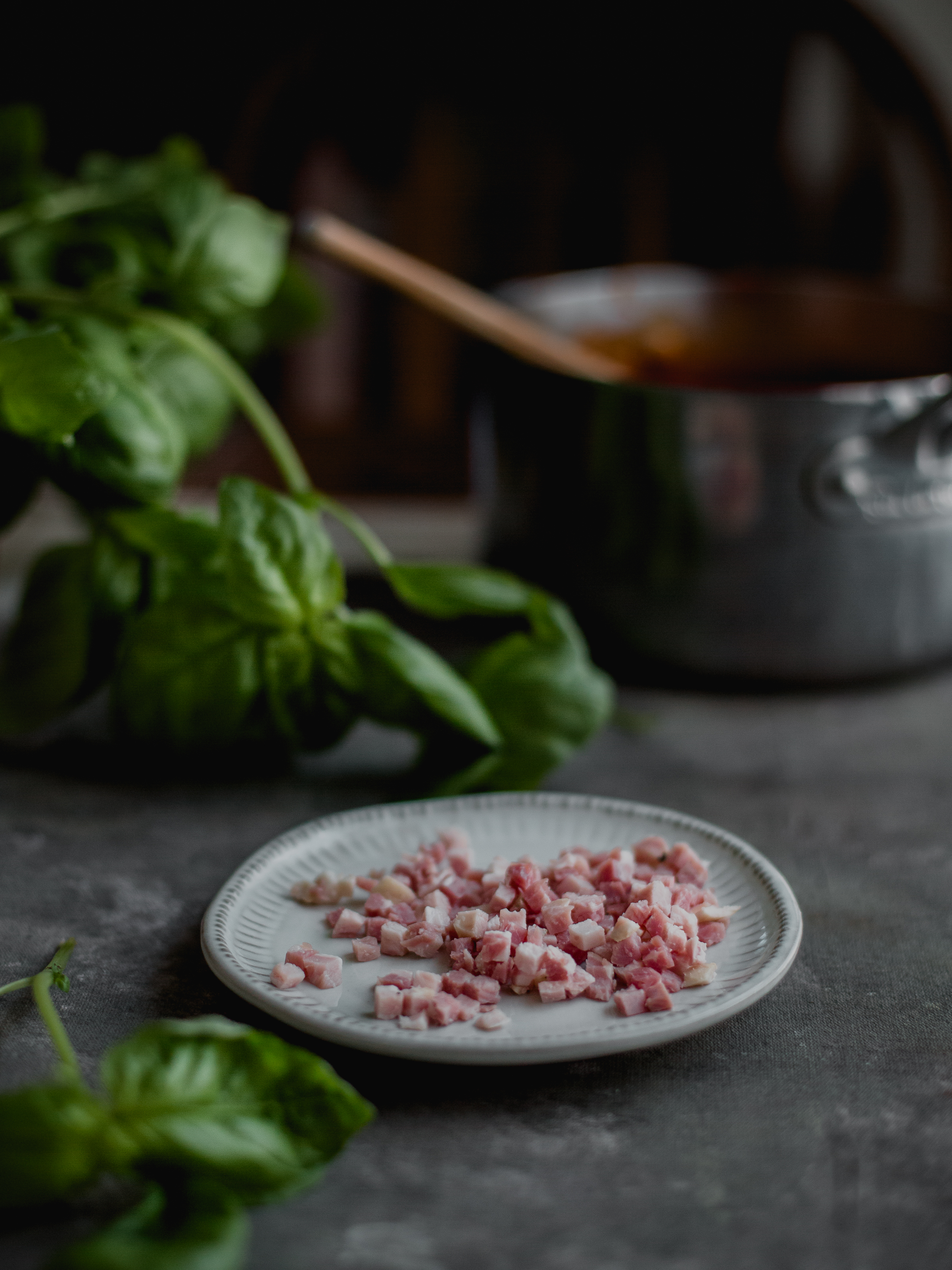 adding pancetta in soup for umami flavors | from scratch, mostly blog