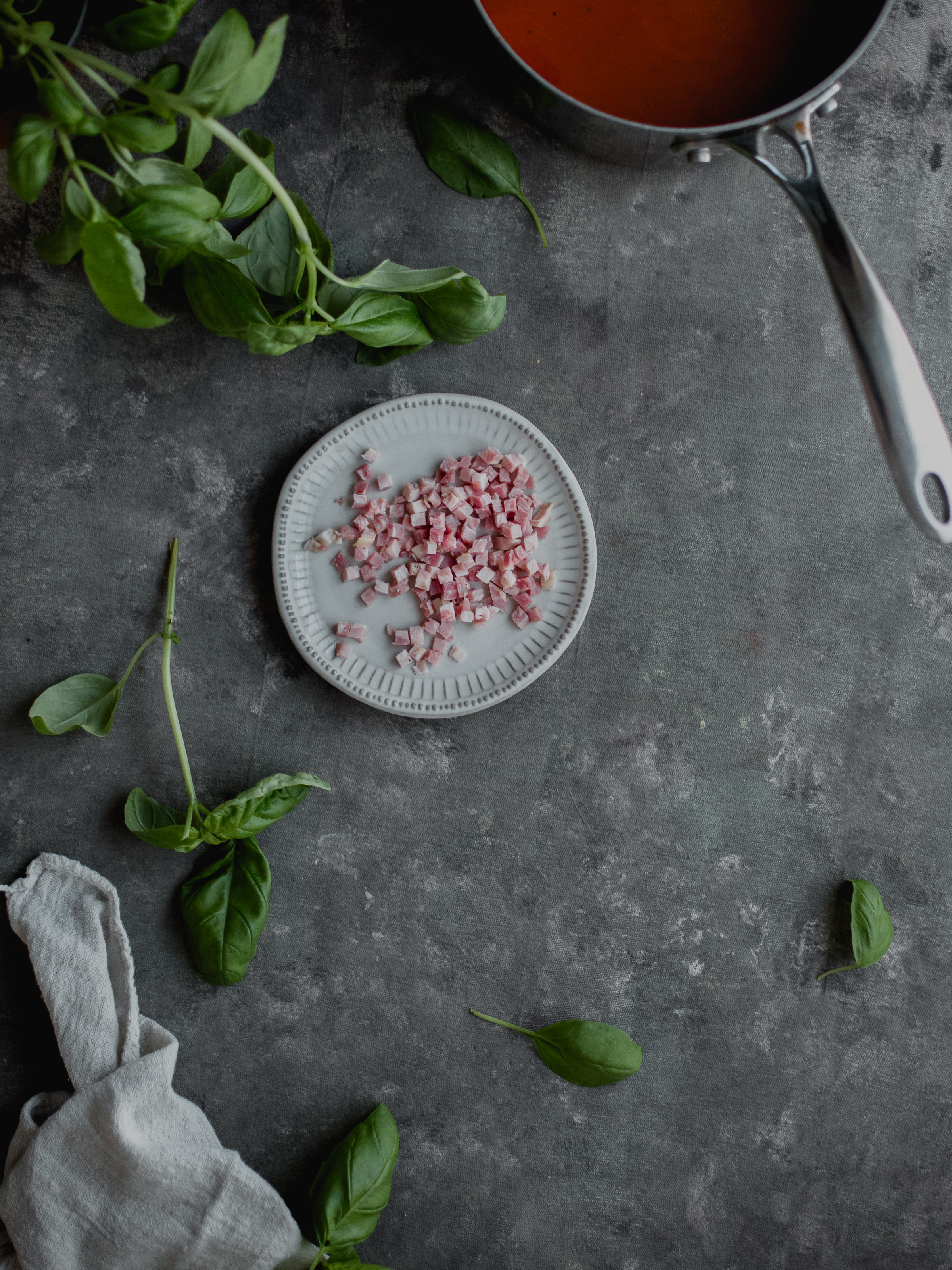 Make soups with more umami flavors with pancetta | from scratch, mostly blog