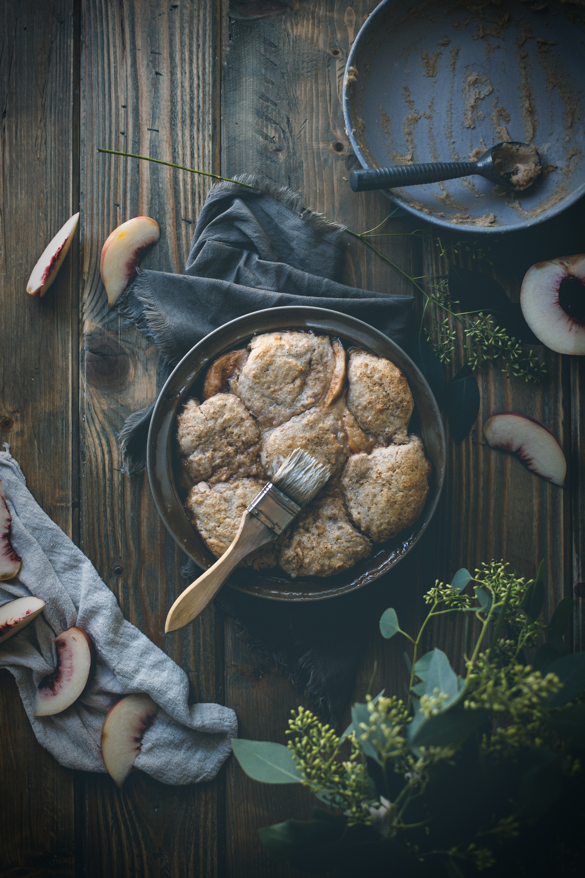 White peach cobbler with Turkey Hill Dairy | from scratch, mostly blog
