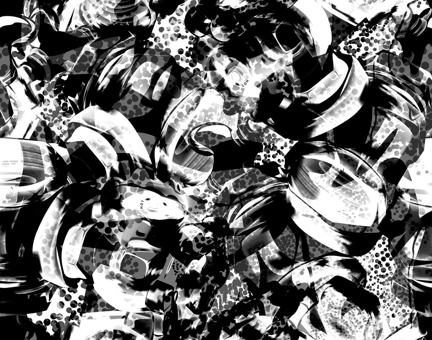 Black/White Camo