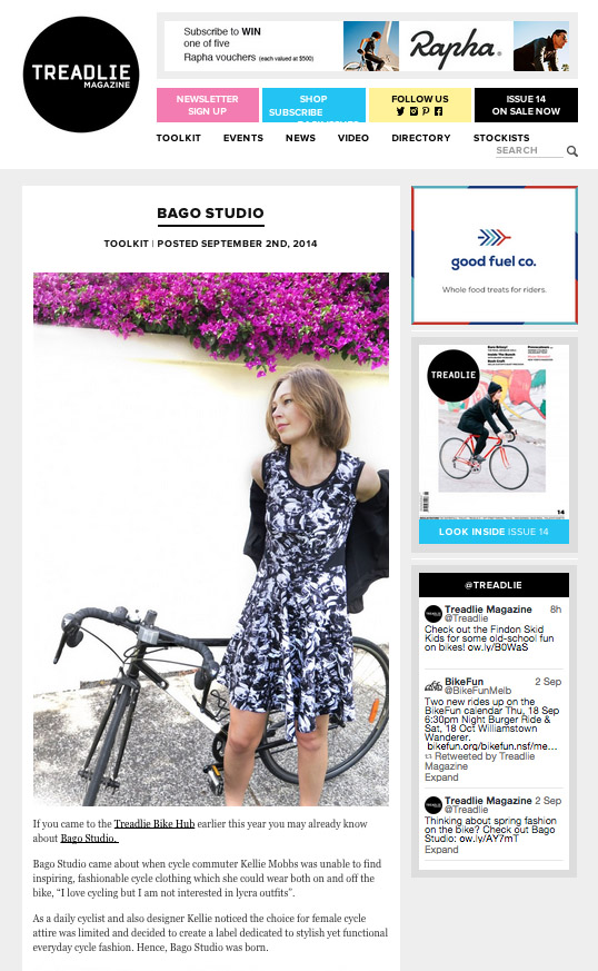 Bago studio featured on Treadlie Toolkit