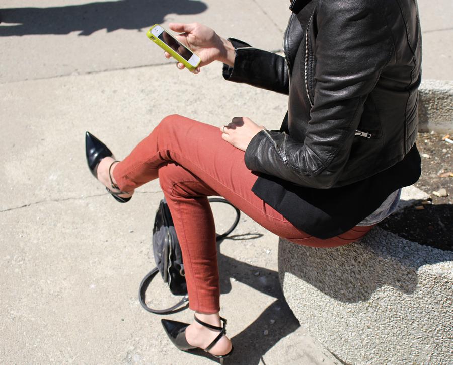 WoahStyle.com | Alexander Wang shoes & bag, Jbrand jeans, Mackage jacket