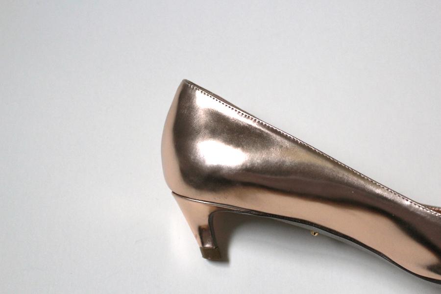 WoahStyle.com | Sergio Rossi Rose Gold Kitten Heels