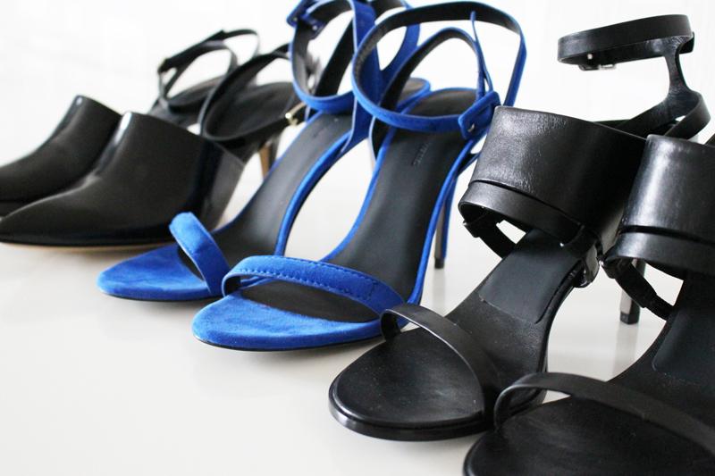 Alexander Wang shoes: Inga, Antonia and Adina sandals.  Photography by NSM.
