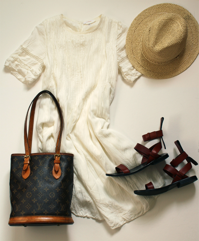WoahStyle.com | White Dress Casual Styling, Aritzia Sonore Dress