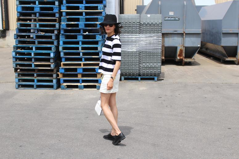 WoahStyle.com | Rag & Bone, Acne skirt, Helmut Lang oxfords