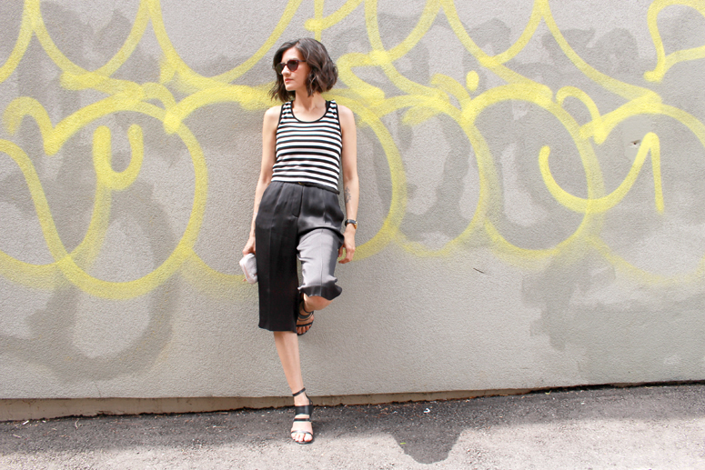 WoahStyle | Celine culottes & a striped crop top