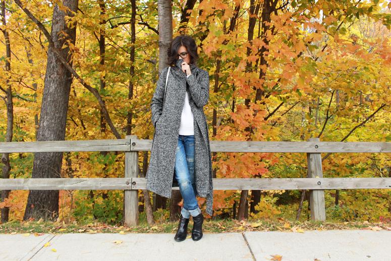 WoahStyle.com | Aritzia coat, Acne knit, Joe Fresh denim and Alexander Wang boots #streetstyle