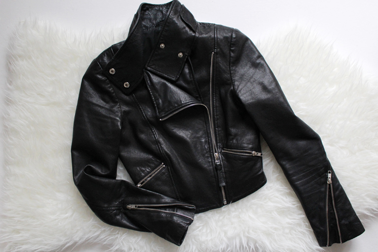 WoahStyle.com | The cropped black leather jacket by Mackage