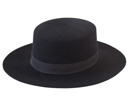 WoahStyle.com   JANESSA LEONE GABRIELLE Black Wool Felt Bolero Hat