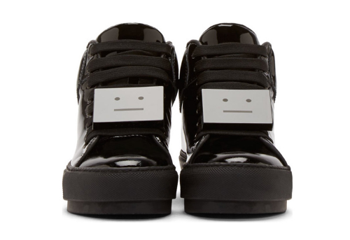On the top of my wish list |  Acne Studios Black Patent Cleo Sneakers