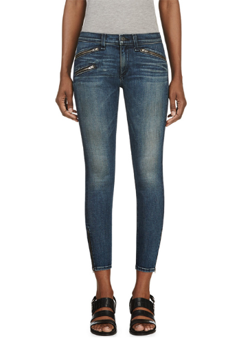 WoahStyle.com | Rag & Bone zippered cropped denim
