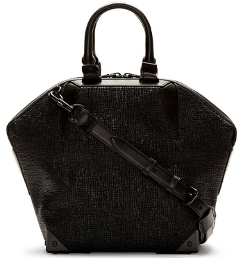 WoahStyle.com - Alexander Wang Black Etched Emile Prisma Small Tote