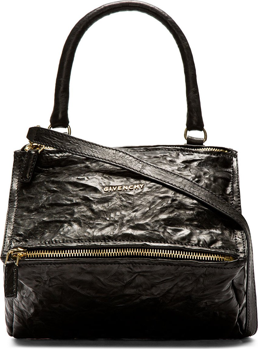 Givenchy Black Old Pepe Leather Pandora Small Shoulder Bag