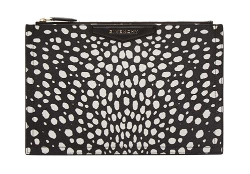 WoahStyle.com | Givenchy Black Dot Print Antigona Medium Zip Pouch