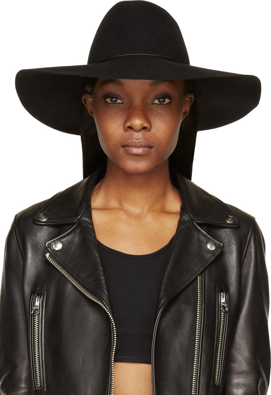 WoahStyle | Off-White Black Lapin Cartwheel Hat