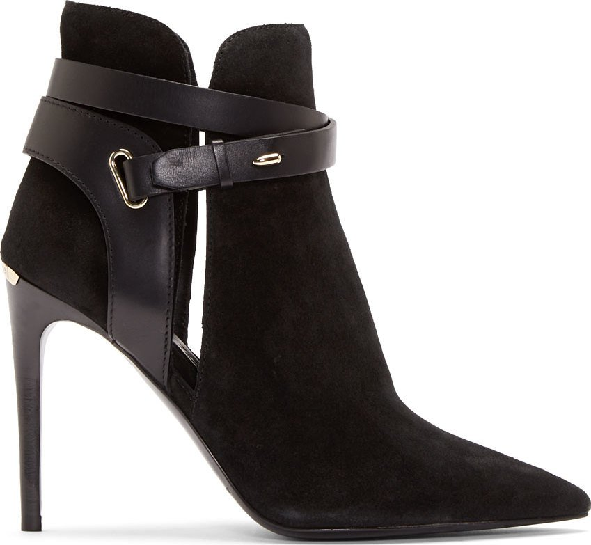 WoahStyle.com | Burberry London Black Suede Finford Ankle Boots