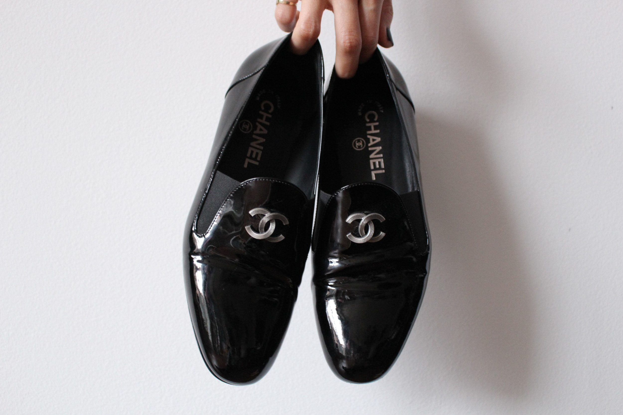 WoahStyle.com | Chanel patent leather moccasin loafers