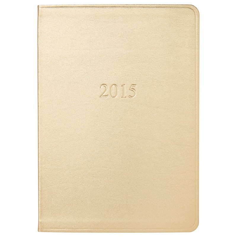 Gallery Leather Maine Gold Agenda