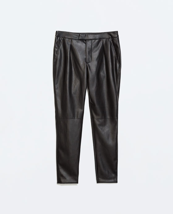 Faux Leather Trouser Pants