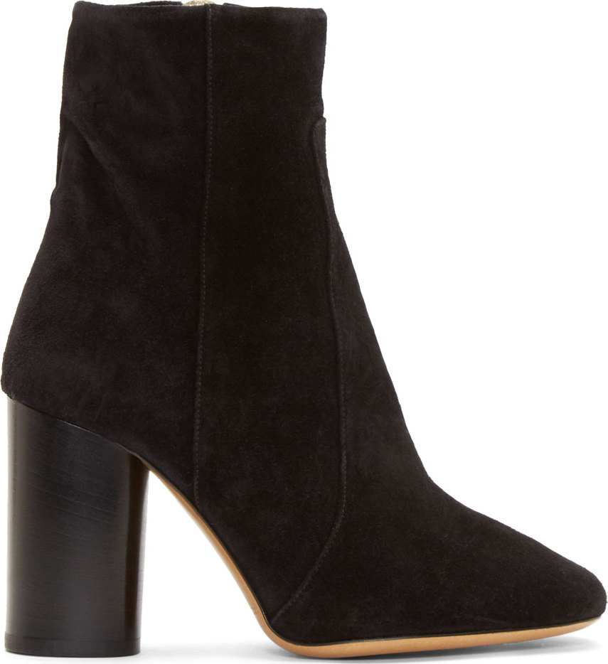 Isabel Marant Black Suede Garbo Bootsy Boots