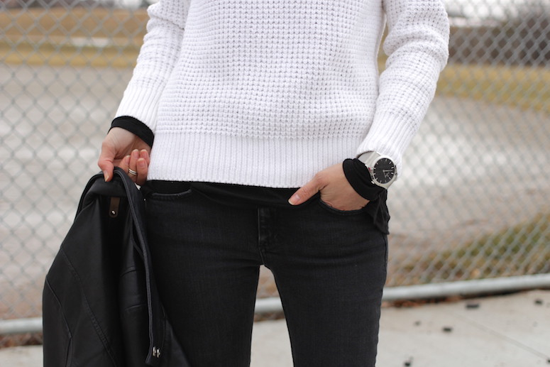 Woahstyle.com | Cozy Casual Knits with Acne Studios #blackandwhite #streetstyle