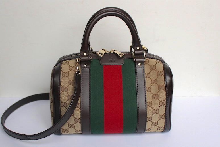 WoahStyle.com   Gucci Boston heritage stripes bag