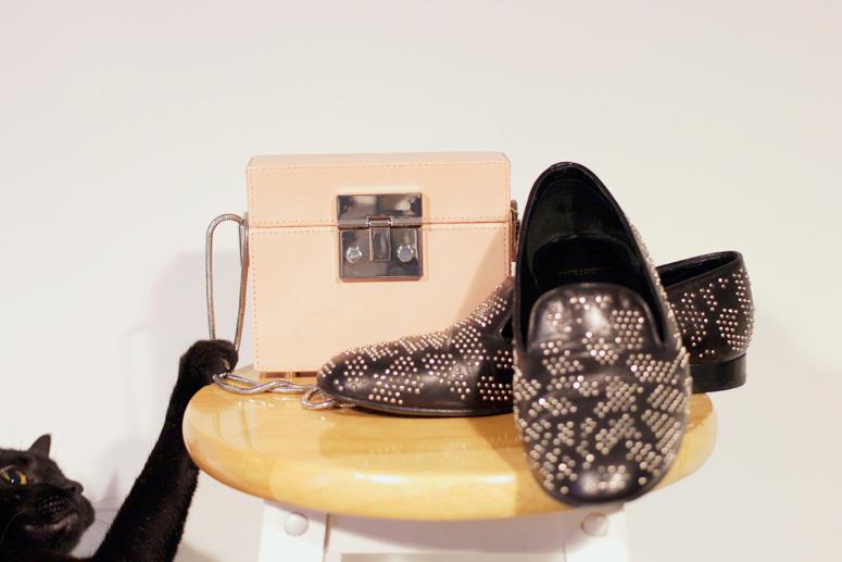 WoahStyle.com | Zara pink box bag and Saint Laurent Paris loafers