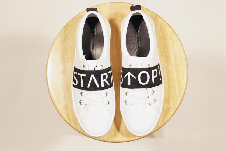 Woahstyle.com | Zara Start Stop Sneakers in white