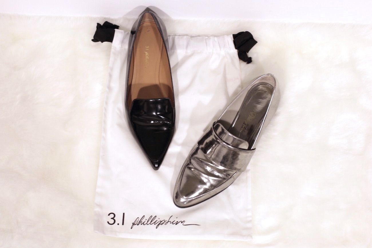 WoahStylecom | 3.1 Phillip Lim Page Loafer and silver Quinn loafer