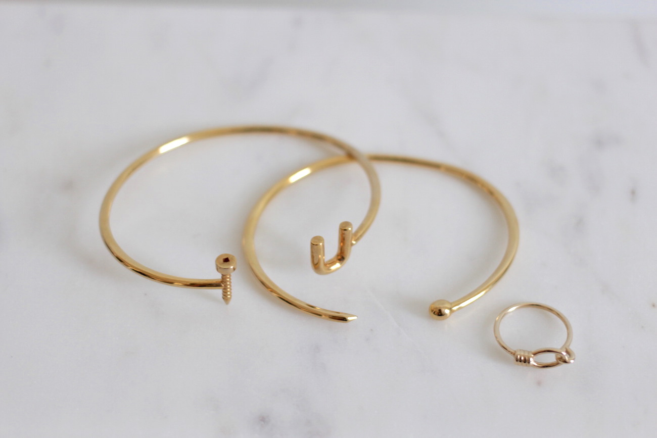 WoahStyle.com | Gold plated and brass bangles and ring from OST NY & Tom Ford Lipstick in Wild Ginger