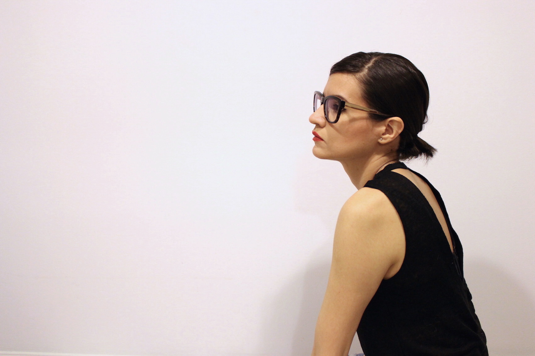 WoahStyle.com | Dior glasses, Chaser tank, Tom Ford lipstick in Wild Ginger