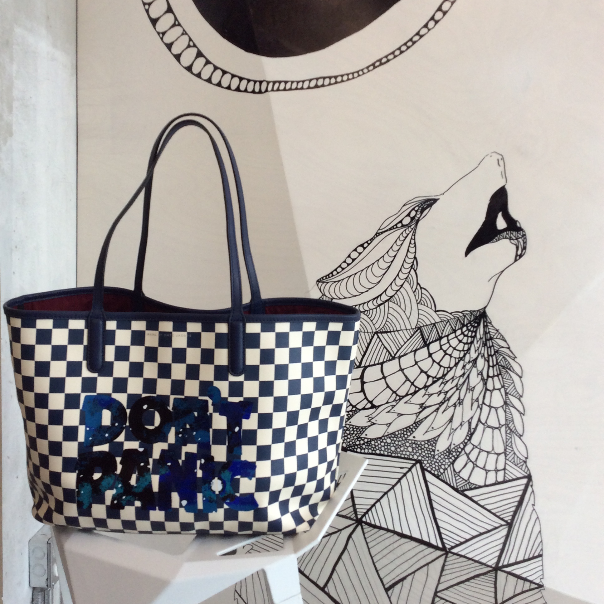 WoahStyle.com | Marc by Marc Jacobs Don't Panic checkered tote bag