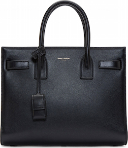 Saint Laurent  Black Leather Box Laque Sac Du Jour Baby Bag