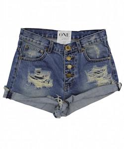 One Teaspoon Hawk Vintage Blue High Waisted Denim Shorts.jpg